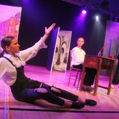Standing ovations for Truro High actresses in production of Terry Pratchett's Wyrd Sisters