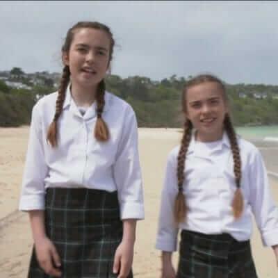 Truro High sisters make national G7 headlines on BBC's Newsround