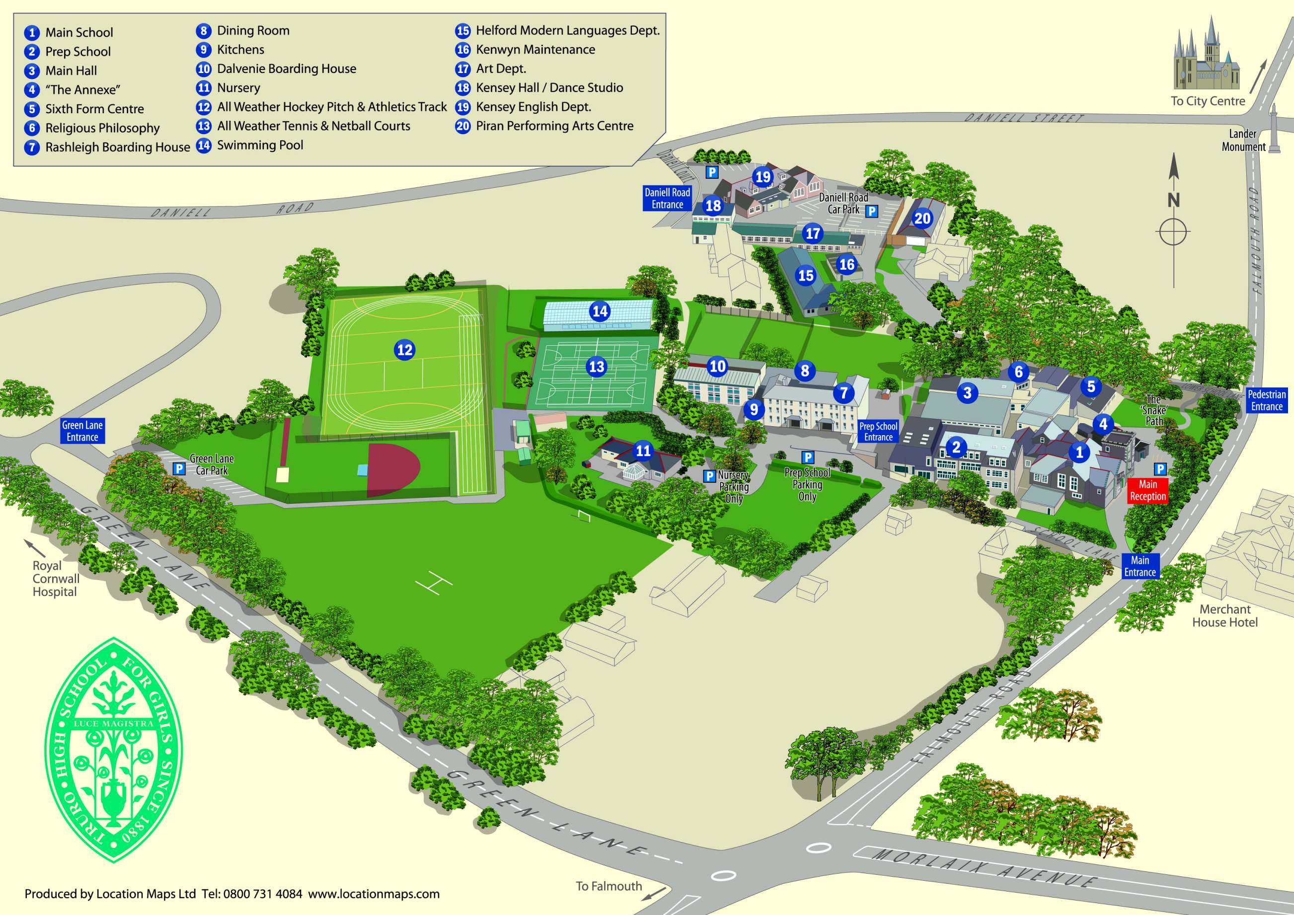 School Campus Map Truro High School for Girls Truro High School
